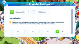 Graphics settings.