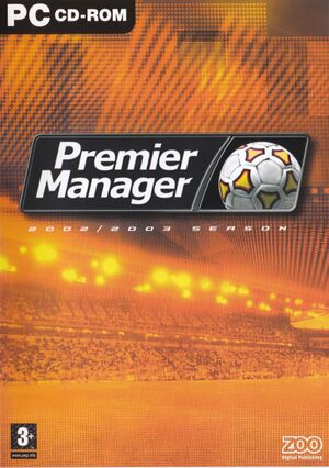 Premier Manager 2002/2003 Season cover