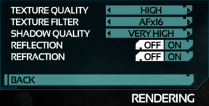 Video Rendering Settings.