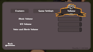 In-game volume settings