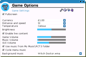 Audio and General Game Settings