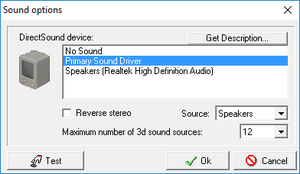 Audio settings (<path-to-game>\Config.exe).