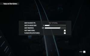 In-game replay settings.