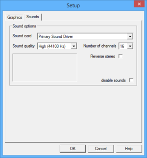 External audio settings.