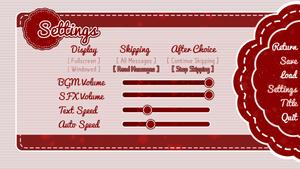 Settings menu.