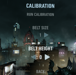 In-game calibration settings.