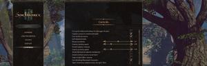 In-game controls settings.