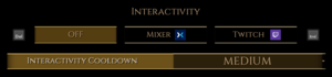 In-game stream settings.