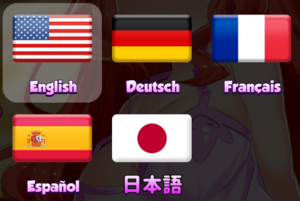 In-game language selection.