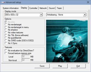 Launcher video settings.