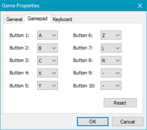 In-game gamepad settings (F1).