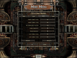 Input settings for Dungeon Siege.