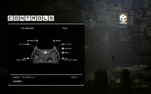 In-game controller layout menu