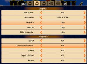 Graphics options