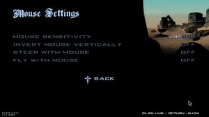 Mouse settings