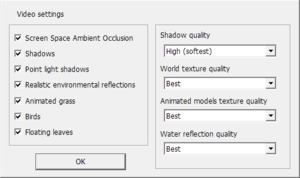 Video settings (Launcher)