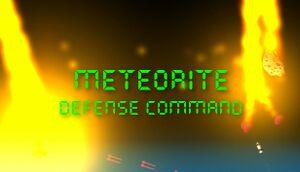 Meteorite Defense Command cover