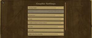 General Graphics Settings