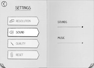 Sound options.