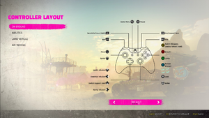 Controller layout settings