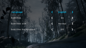 Languages and subtitles settings