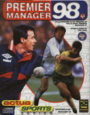 Premier Manager 98 cover