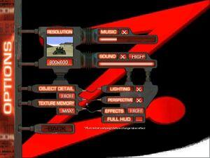 Graphics and Sound settings menu.