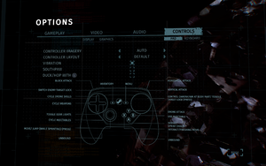 In-game gamepad settings