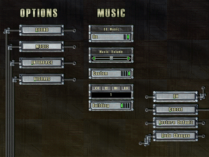 In-game music settings.