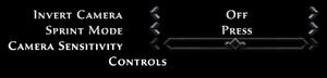 Control options