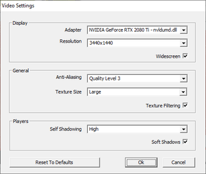 Video settings found in <path-to-game>\Config.exe