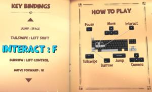 Keyboard and mouse key bindings
