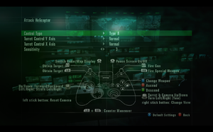 In-game gamepad settings (for Attack Helicopter).