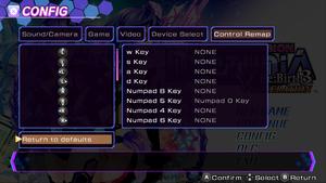 Keyboard and controller rebinding.