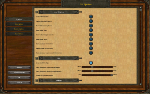 "In-game UI settings. The ""Enable IME"" option under ""Regional"" is not shown."