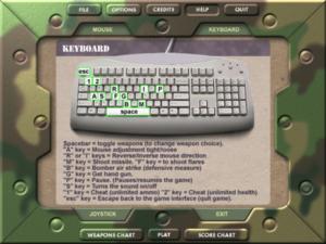 In-game keyboard controls.