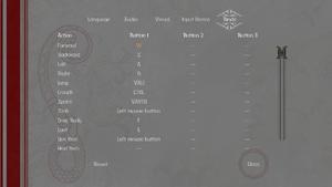In-game rebinding settings.