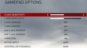 Gamepad Options