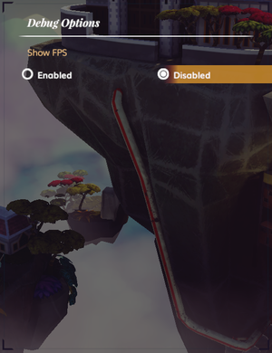 In-game debug settings.