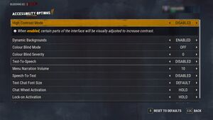 In-game Advanced Accessibility settings.