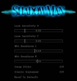 Gamepad settings
