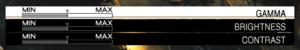 Detailed screen settings