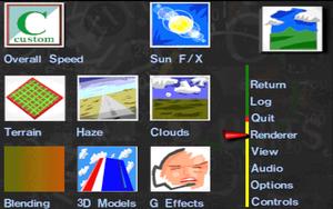 Renderer settings.