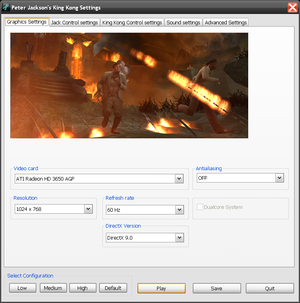 Settings application - graphics settings.