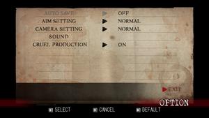 In game general settings.