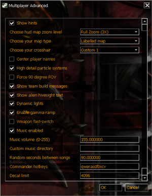 In-game advanced multiplayer settings.