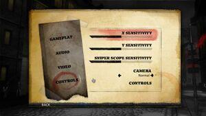 The controls menu.