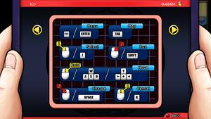 In-game keyboard keys.