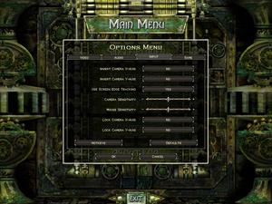 Input settings for Legends of Aranna.