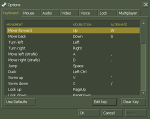 In-game key map settings (Steam version)